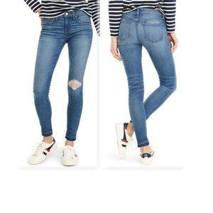 NWT J.CREW Toothpick Drop Hem Skinny Jeans